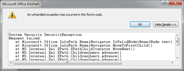 InfoPath and Windows 7: System.Security.SecurityException – Code ...